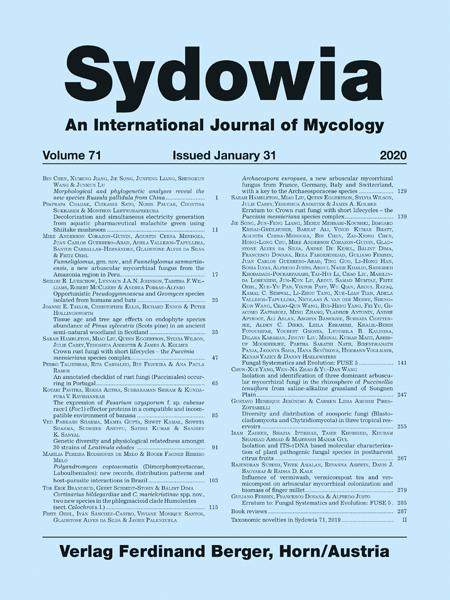 Sydowia Vol. 71 E-Book/S 141-245 OPEN ACCESS
